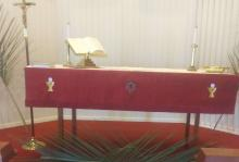 Altar with palm branches